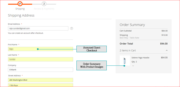 Magento 2 - Assumed Guest Checkout