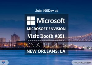 Join i95Dev at Microsoft Envision 2016 New Orleans